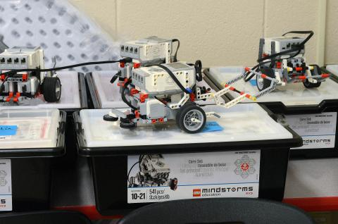 the LEGO Mindstorms EV3 robotics set