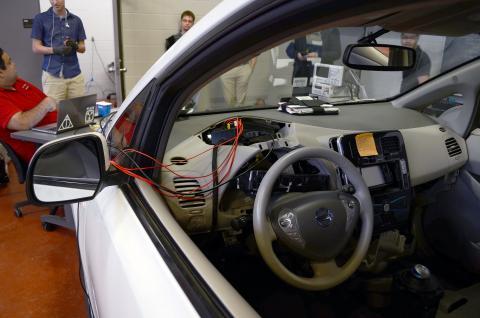 Inside the Nissan Leaf